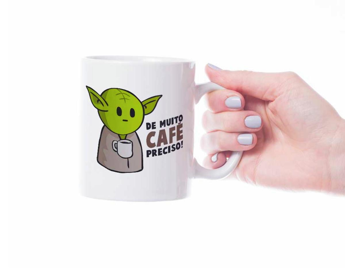 Caneca Mestre Yoda Star Wars De muito café preciso no Elo7  1a27fc7499629
