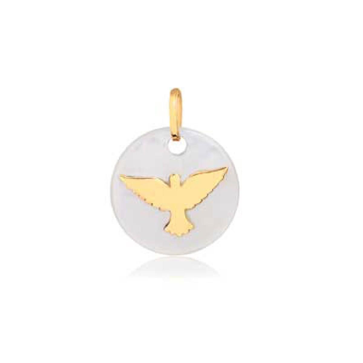 Pingente Espírito Santo em Ouro com Madre Pérola no Elo7   Stellato ... 9f7032ab56