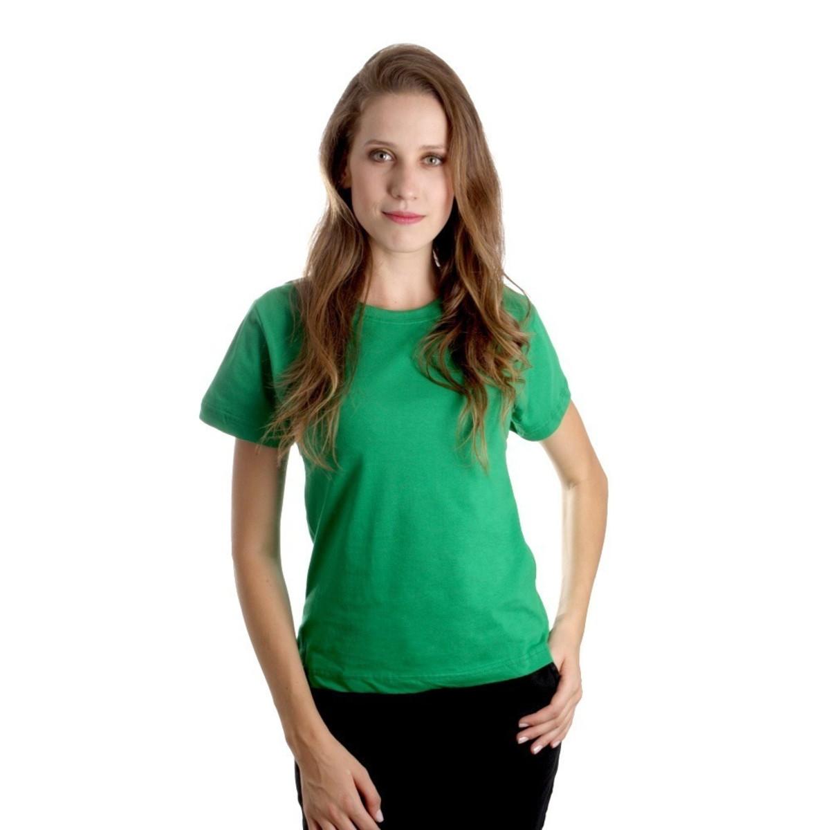 50e1aa082701b Camisetas Baby Look Feminina Algodão Lisa Camisa Verde Blusa no Elo7 ...
