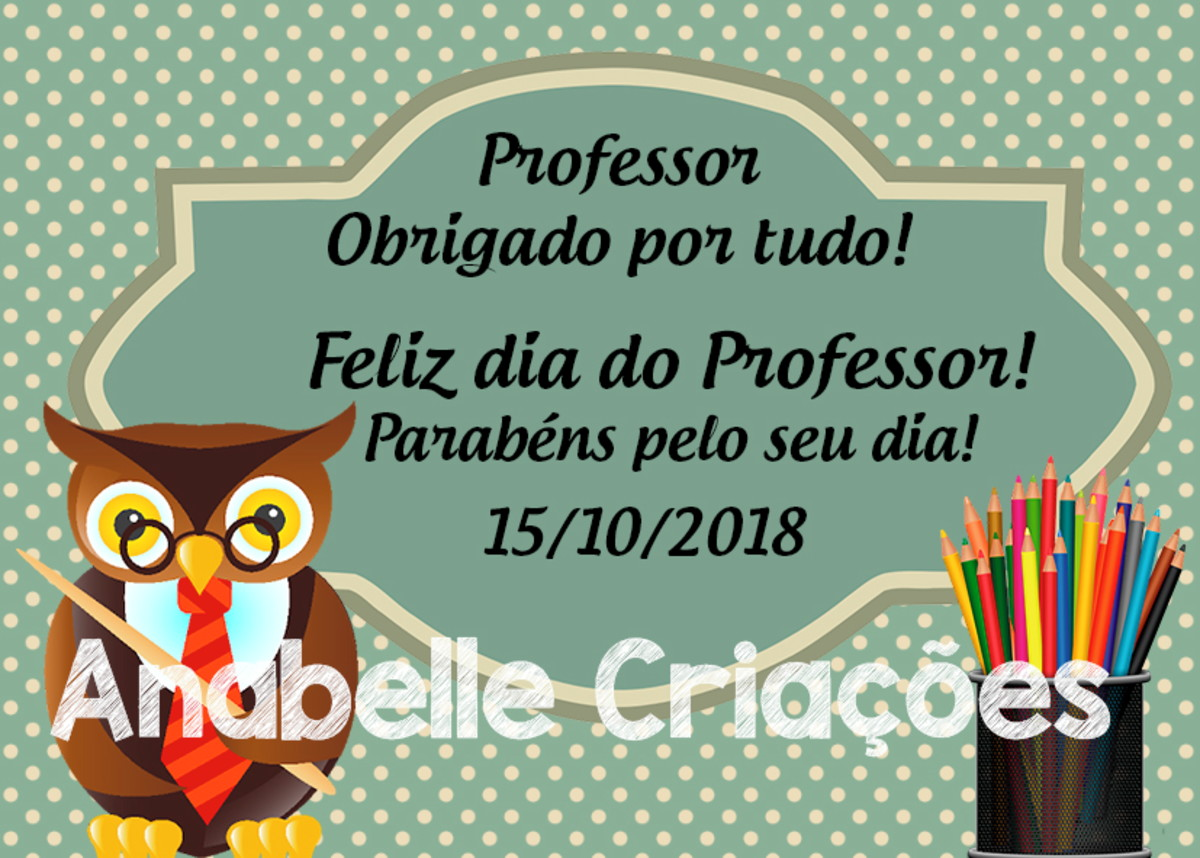 Cartao Dia Dos Professores No Elo7 Lu Design Criacoes D1bcf1