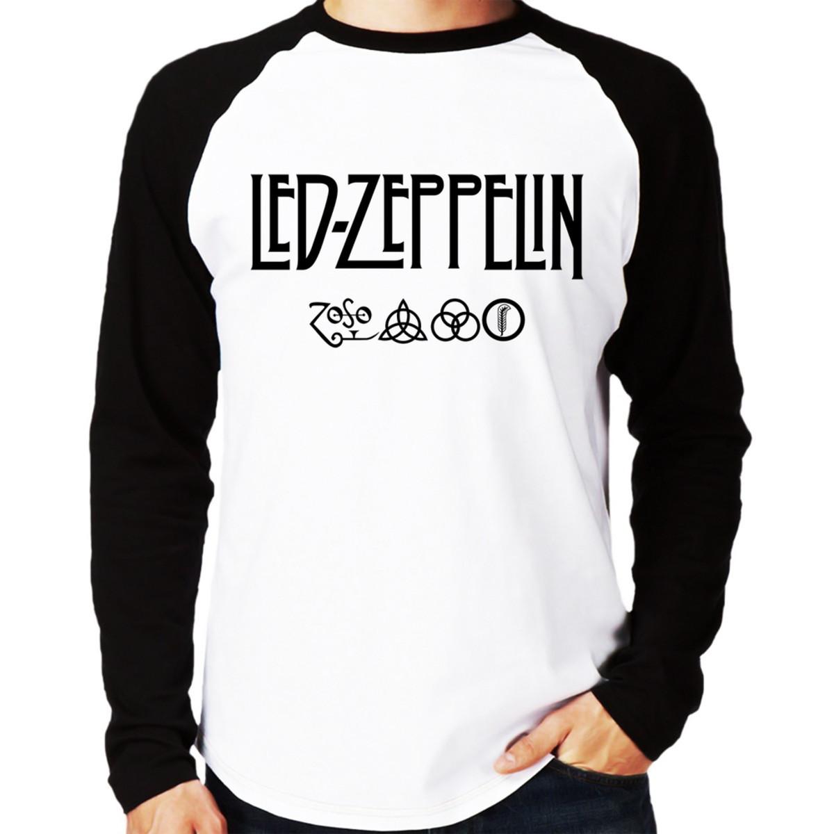 695a68199 Camiseta Led Zeppelin Raglan Longa no Elo7