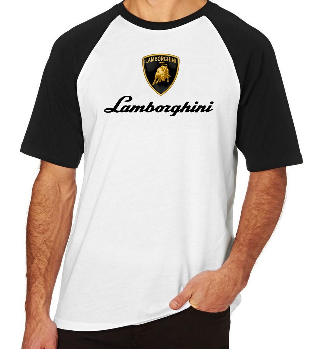 Zoom · Camiseta Raglan Camisa Blusa Lamborghini Italia Carro