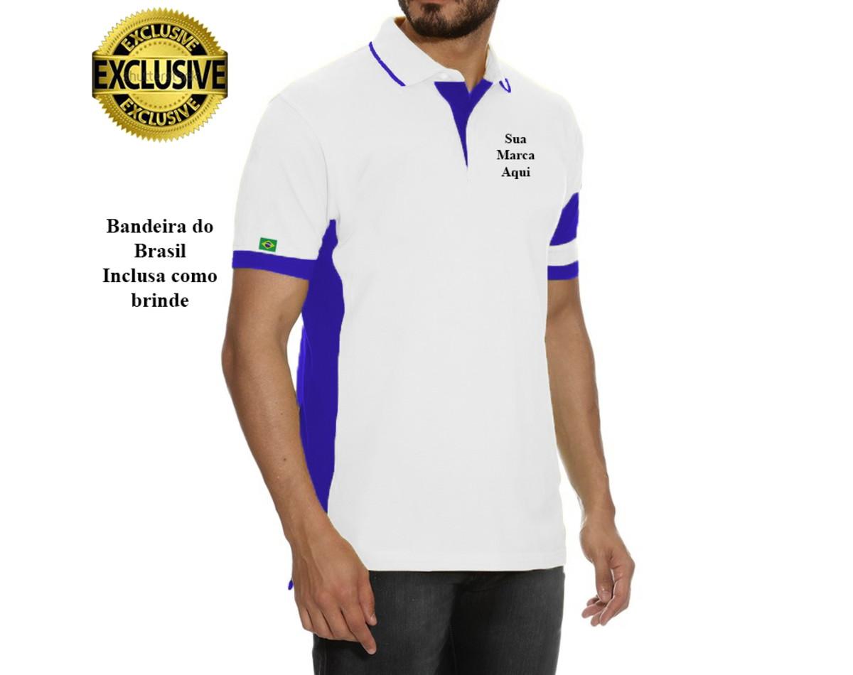 c402fa88aa Camisas pólos personalizadas kit com 4 pçs no Elo7