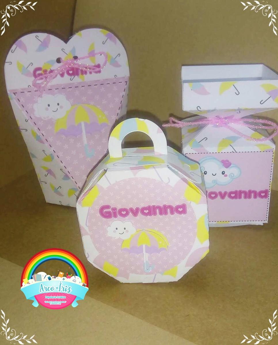 2c94ba7942465b Kit caixas Chuva de benção/ chuva de amor