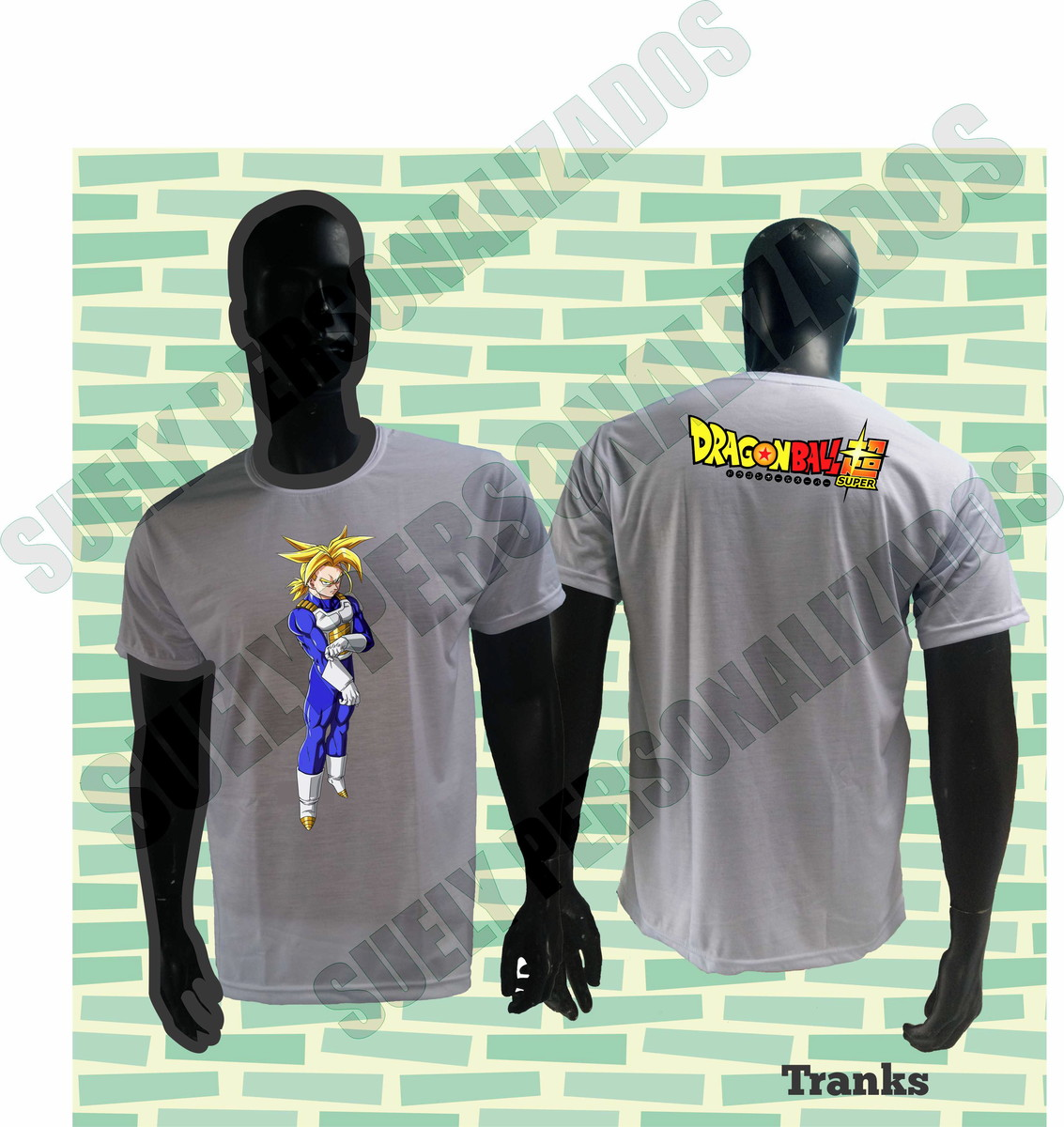 CAMISA DRAGON BALL SUPER  125 TRUNKS no Elo7  1cea0352ab415