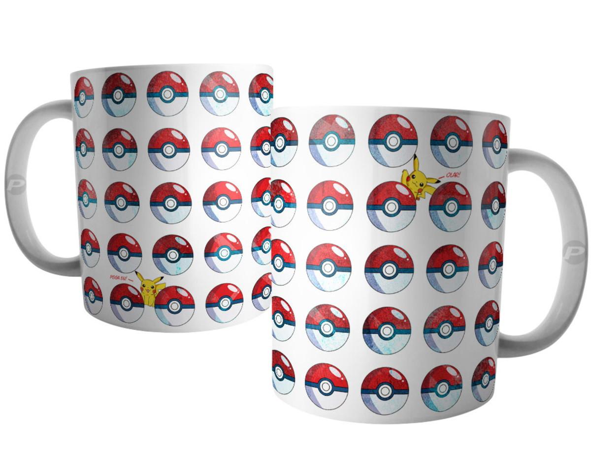 Caneca Pokemon Pokebola Desenho E Jogo No Elo7 Persomax A15522