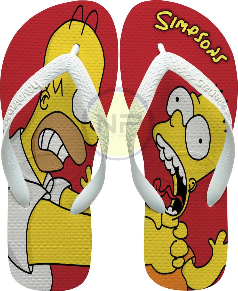 21ebf3e67 Chinelo Havaianas Personalizados Simpsons Home X Bart no Elo7 | NICK ...