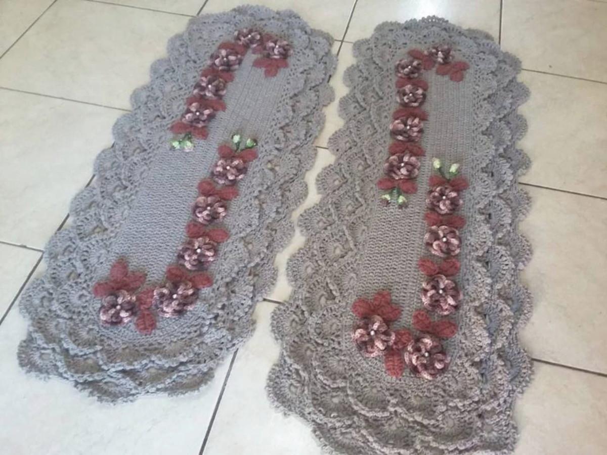 a8b9931462 Tapete de Cozinha de crochê 2 peças no Elo7