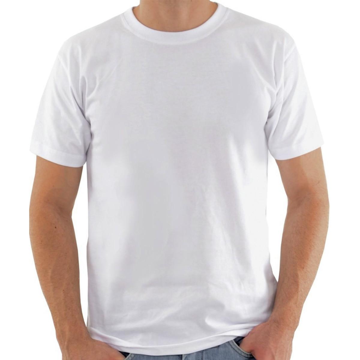 629d0fa2267af Camiseta Lisa 100% Algodão Fio 30 Branca no Elo7
