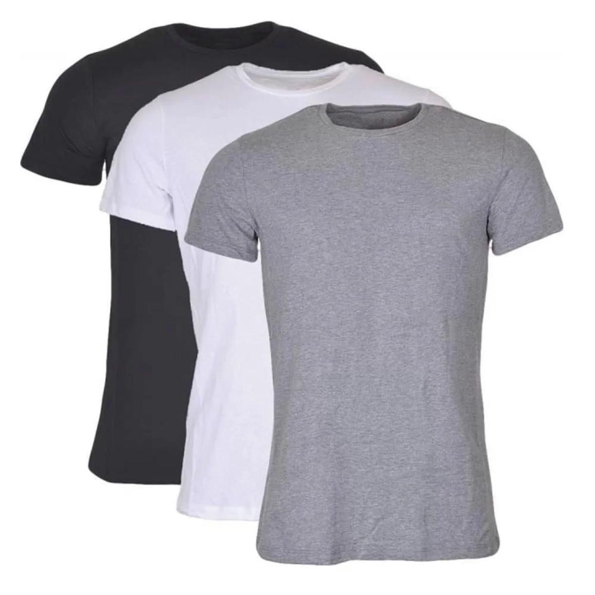 5b884c0291 Kit Com 3 Camisetas Lisas 100% Algodão Fio 30 Sortidas no Elo7 ...
