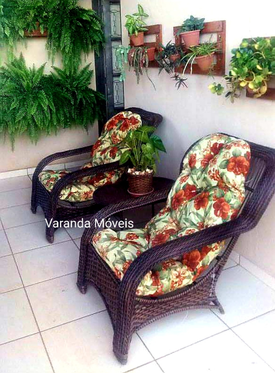 Conjunto De Poltronas Cadeiras Jogo Varanda 193 Rea Fibra