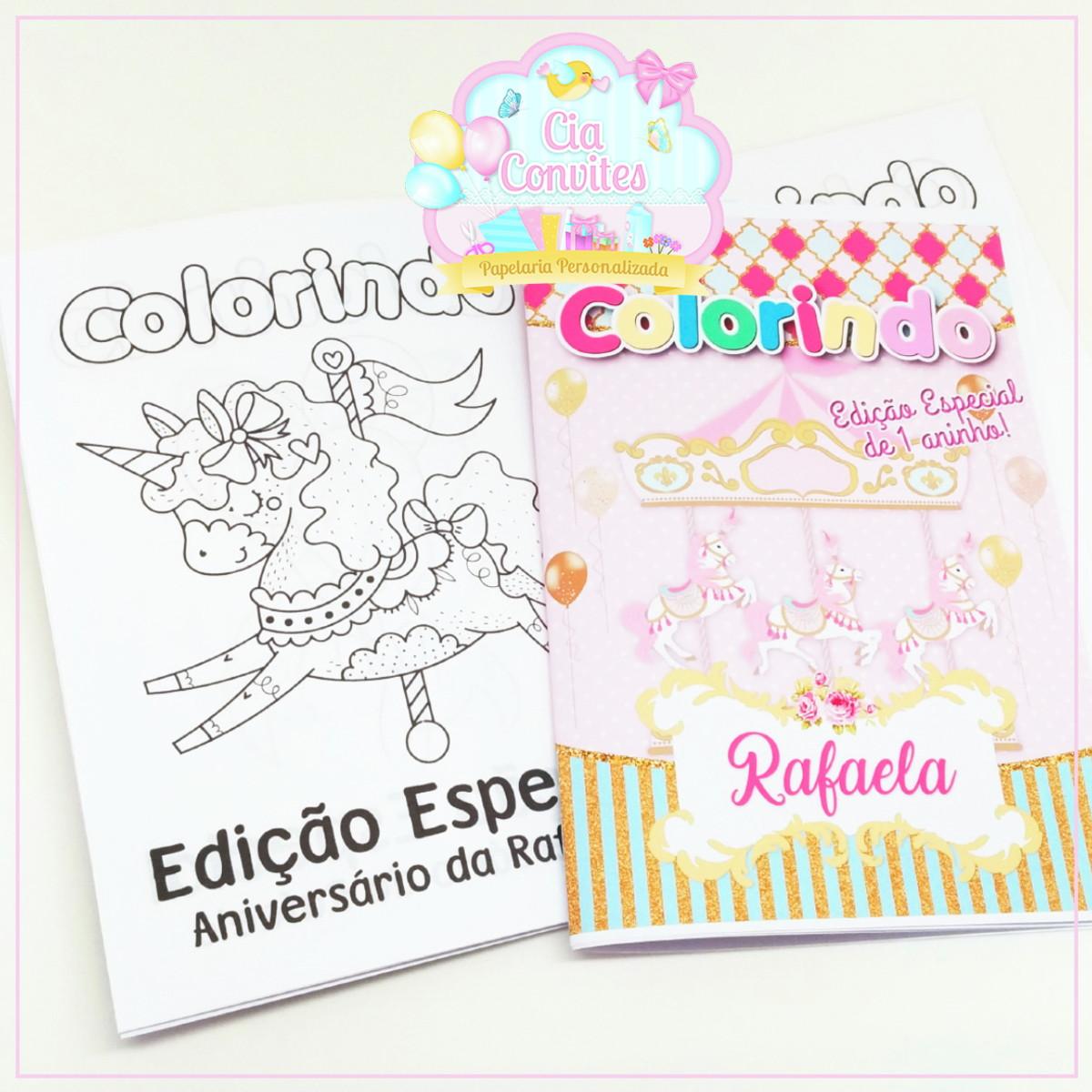 Revista De Colorir Carrossel No Elo7 Cia Convites D23f17