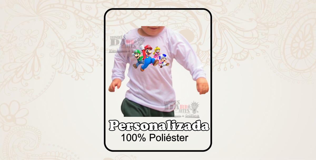663460fe2 Camiseta Manga Longa Infantil 100% poliéster 1un. no Elo7