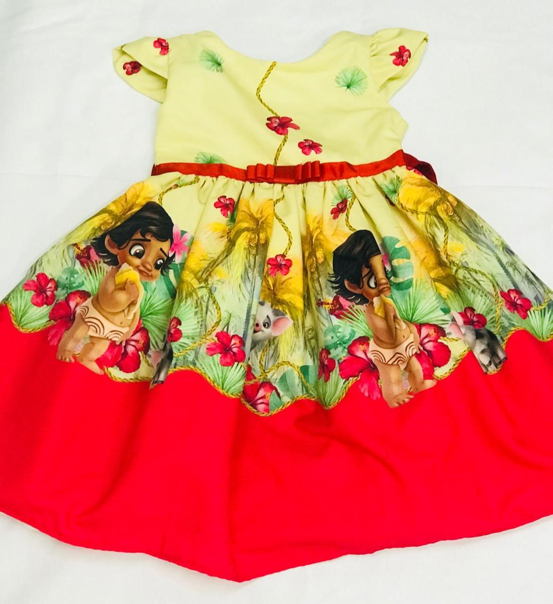 Vestido De Festa Moana Baby