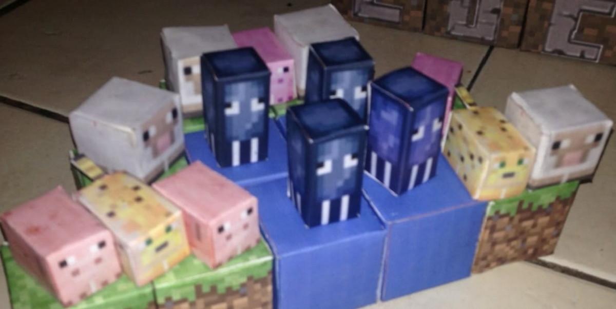animais minecraft em papel no elo7 em festa rj d25eeb