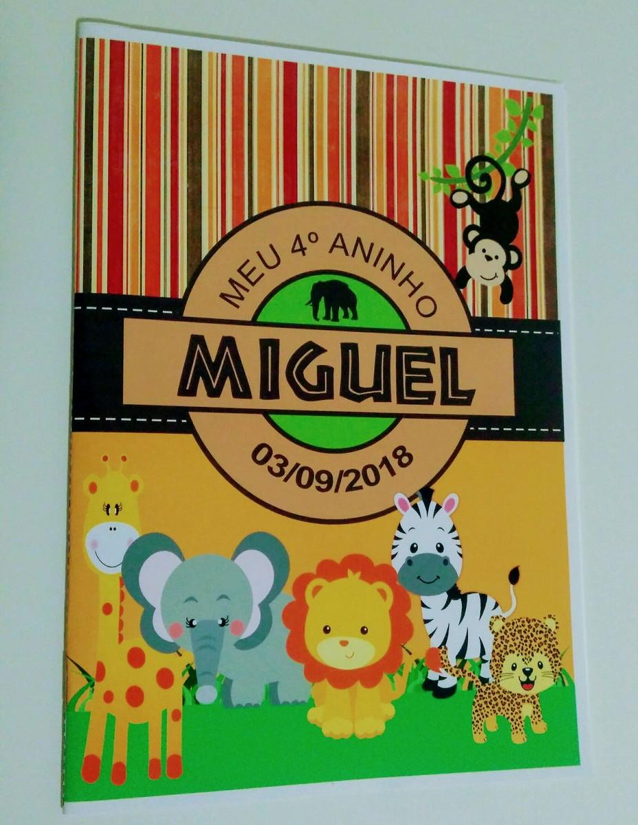40 Livros De Colorir Personalizado Safari No Elo7 Mania De Festa