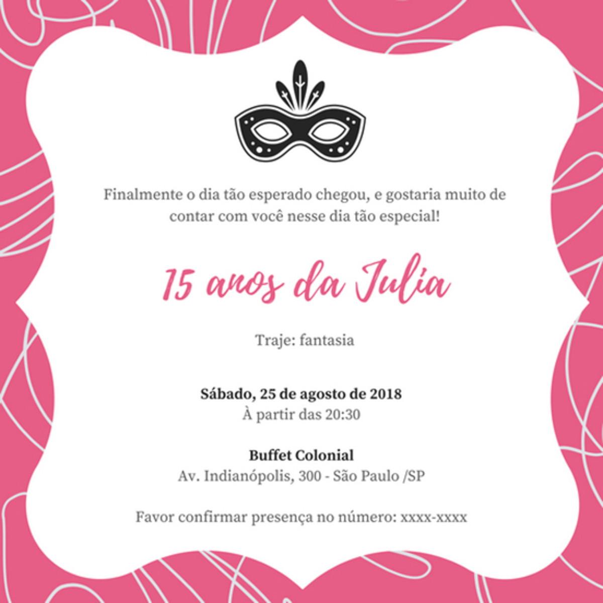 Convite Online Festa A Fantasia No Elo7 Criação Digital D2a0e9