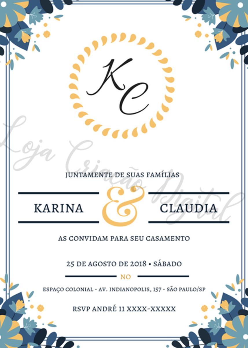 Convite Online Casamento No Elo7 Criação Digital D2aa63