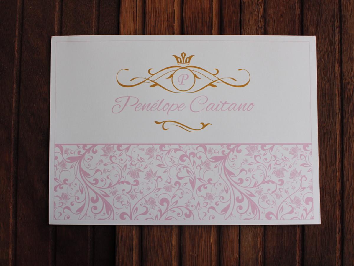 3df47e52d Convite 15 anos - Convite Casamento - rosa dourado barato no Elo7 ...