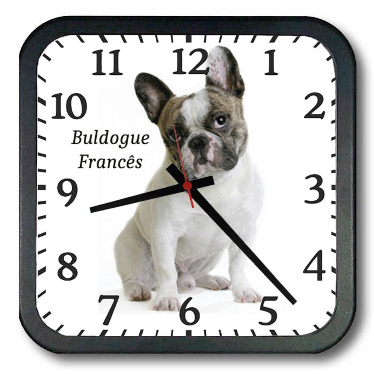 05771ac7bcb Relógio de Parede Búldogue Francês 1 no Elo7