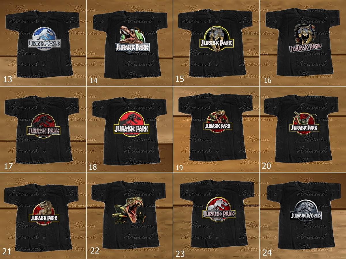 373b30a06a Coleção Camisetas Divertidas dinossauros Jurassic 4 no Elo7