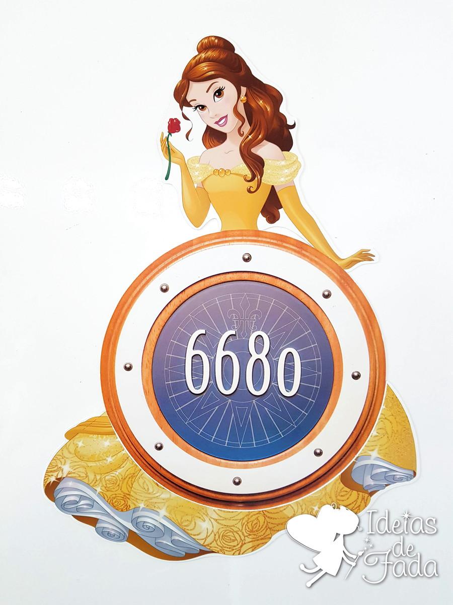 44fce7fb96 Decoração Imã Princesa Bela para Escotilha no Elo7