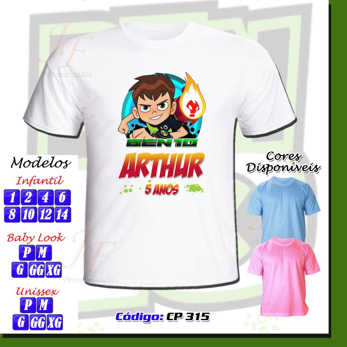 20db334246 Camiseta Adulto Infantil Personalizada Ben 10 no Elo7 ...