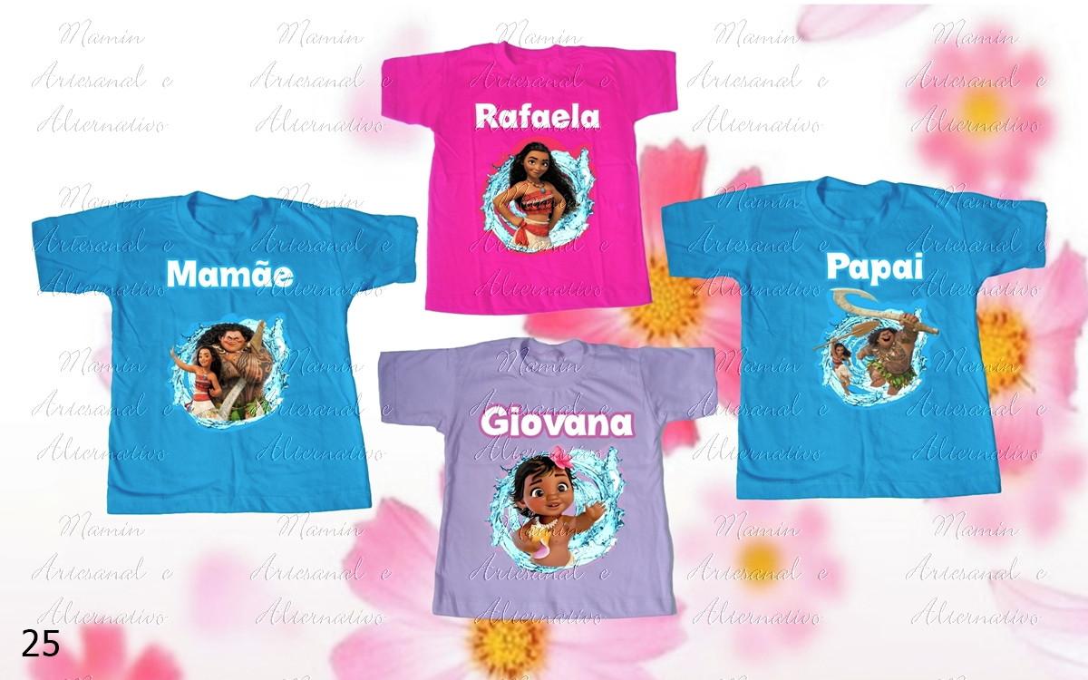 983362af30 Kit 4 camisetas Divertidas Moana no Elo7