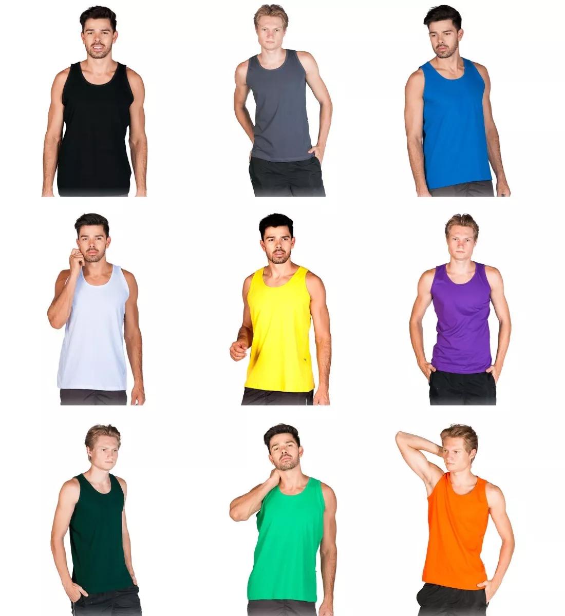 856a2f711af6c Camiseta Regata Algodão Sem Estampa Fio 30.1 Lisa Colorida no Elo7 ...