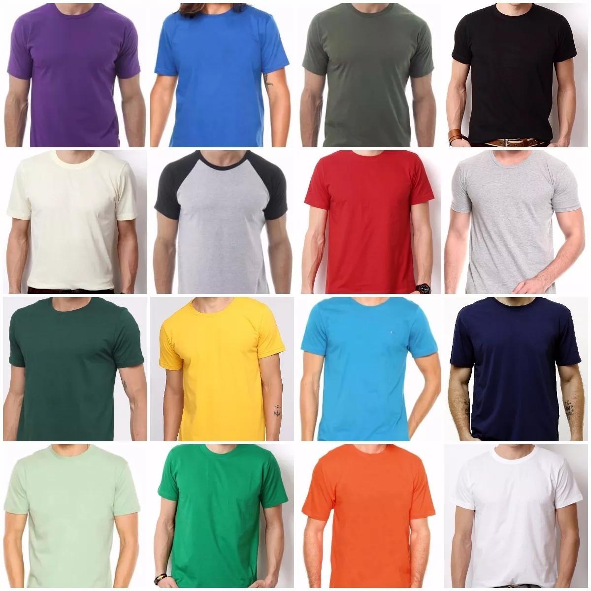 2fd82ef966 Kit 10 Camisetas 100% Algodão Sem Estampa Fio 30.1 Atacado no Elo7 ...