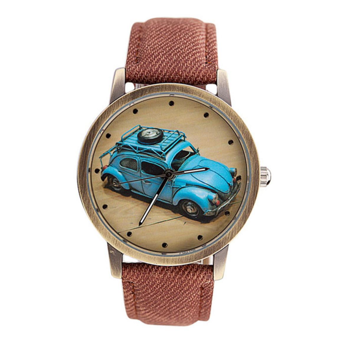 b76da0a799b Relógio Pulso Vintage - Retrô Volkswagen Fusca no Elo7