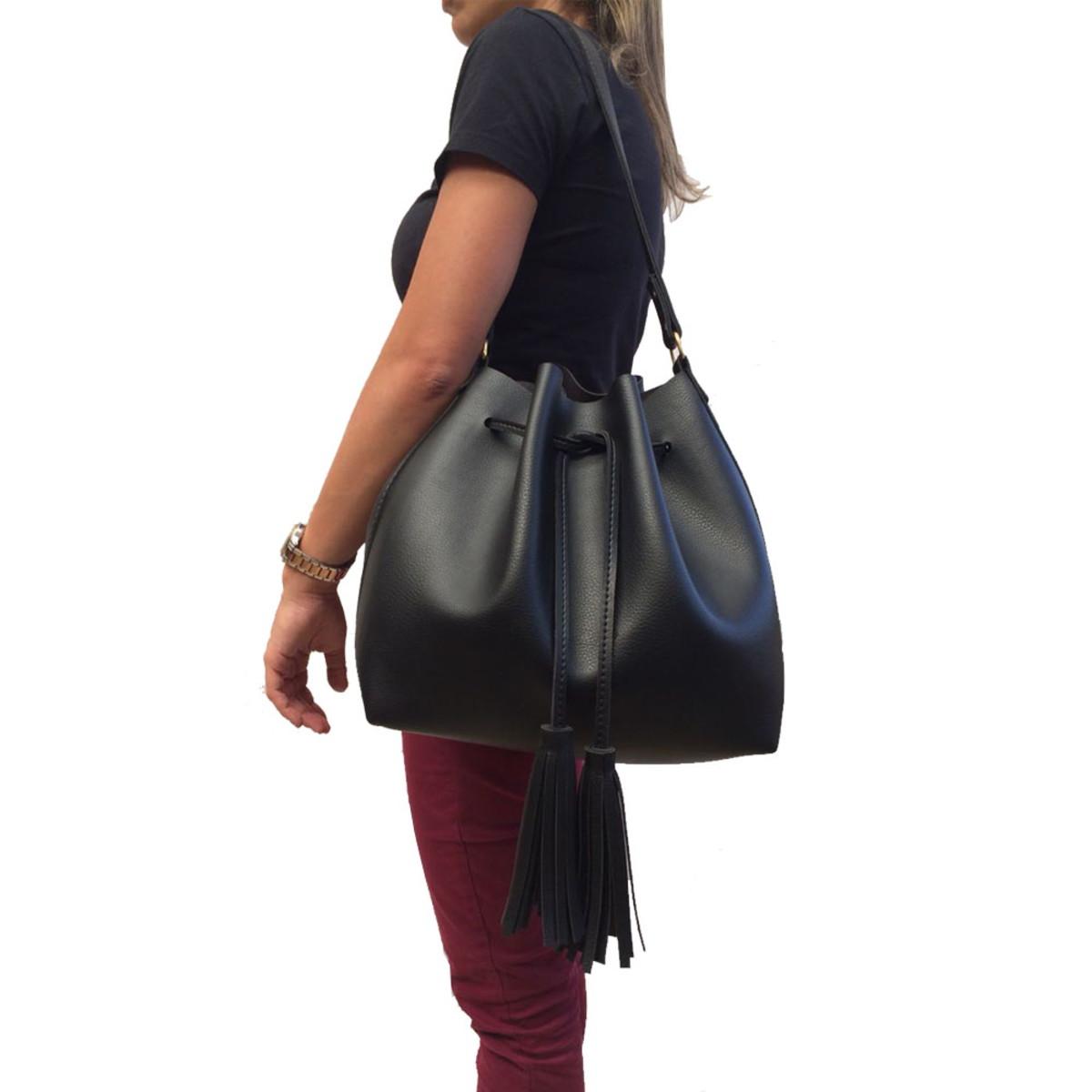 9b18820da Bolsa Feminina grande saco transversal couro sintético linda no Elo7 ...