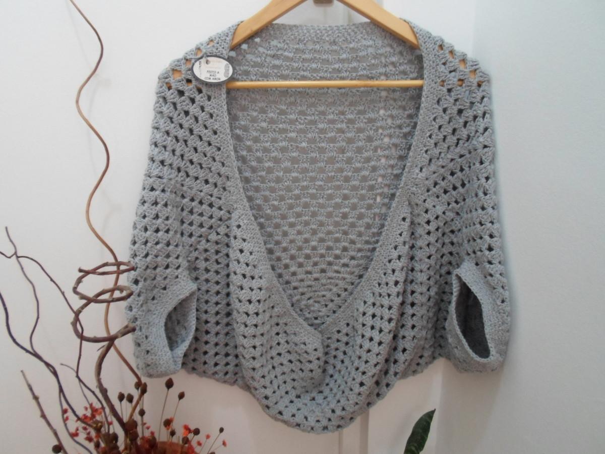 f1852d51e Blusa de Crochê Cardigan Casulo no Elo7