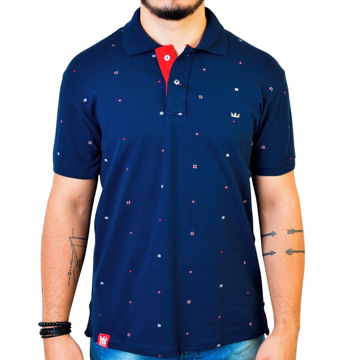 Camisa Polo Adrenalina Azul Marinho no Elo7  6b3345984f052