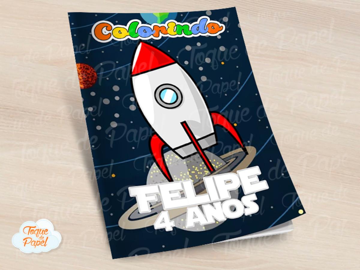 Revista Colorir Galaxia No Elo7 Toque De Papel D3498e