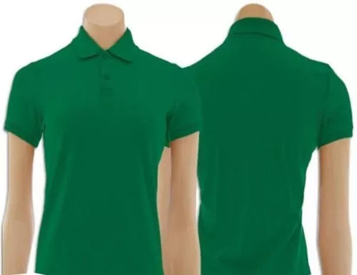 3dd7cc1cc605c Camiseta Gola Polo Feminino Verde Bandeira no Elo7