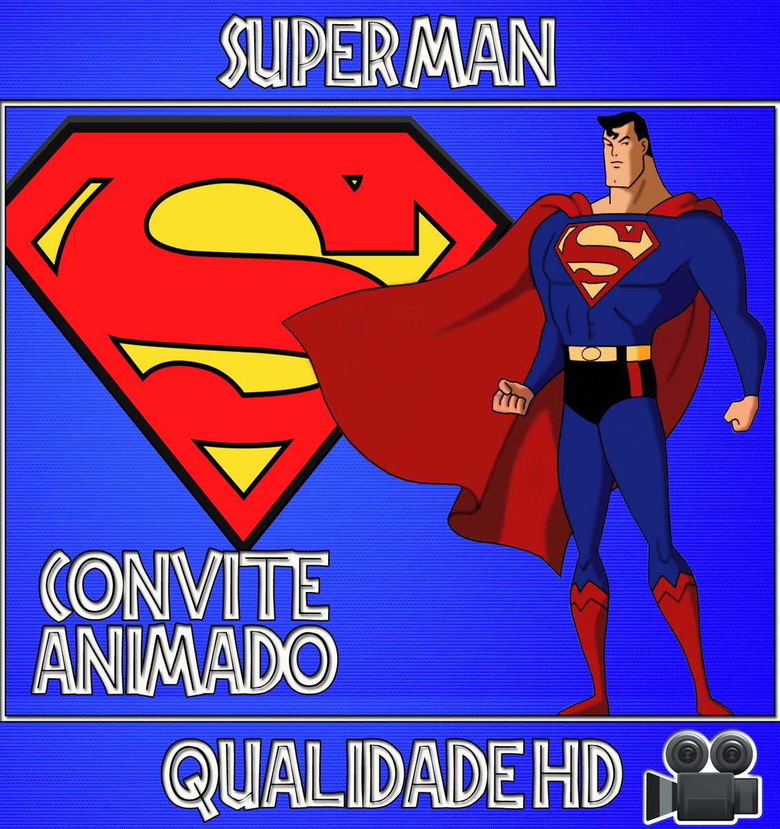 Convite Animado Vídeo Do Superman Super Homem No Elo7 Festa
