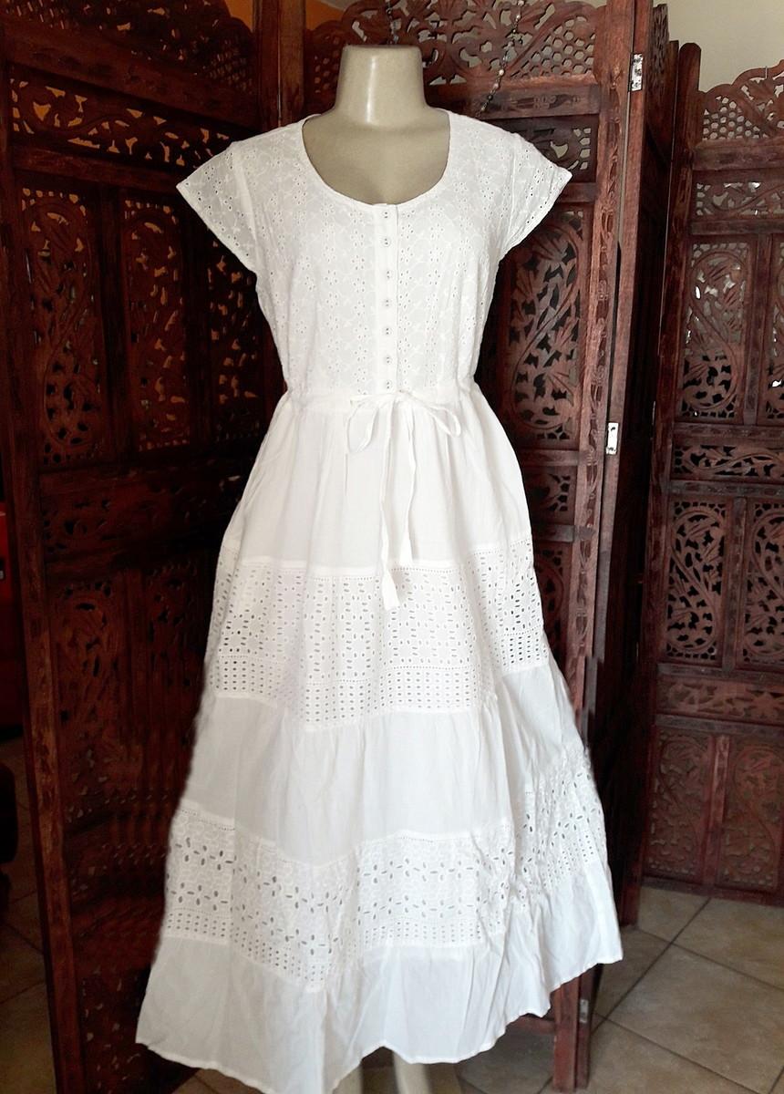 265d29b35 vestido longo branco lese retro festa no Elo7 | Belíssima Moda ...