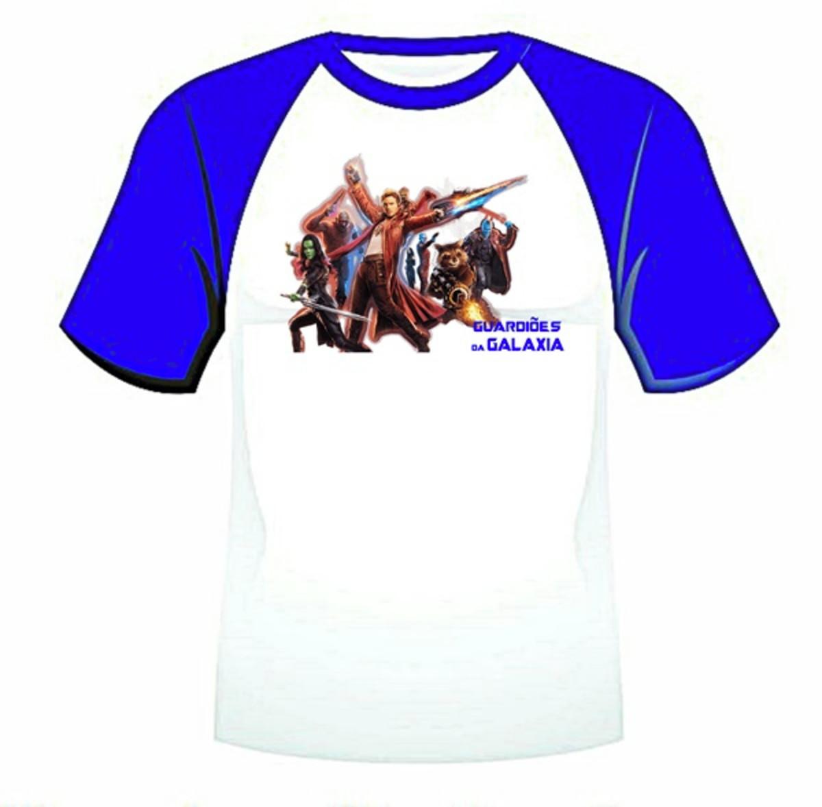 eebedee994 Camiseta raglan infantil super heróis no Elo7