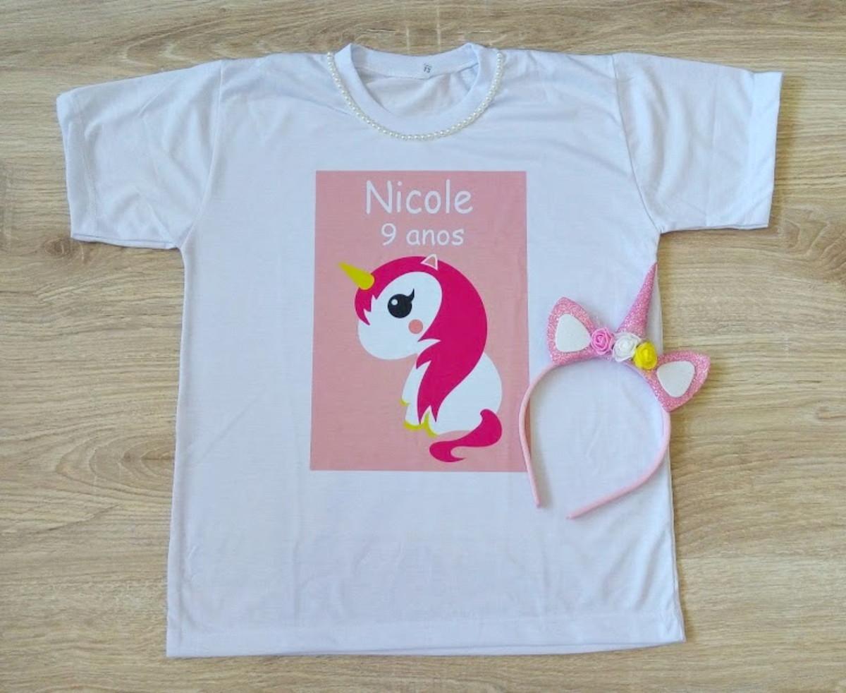 camiseta unicórnio + tiara Black Friday no Elo7  025d977ef9008