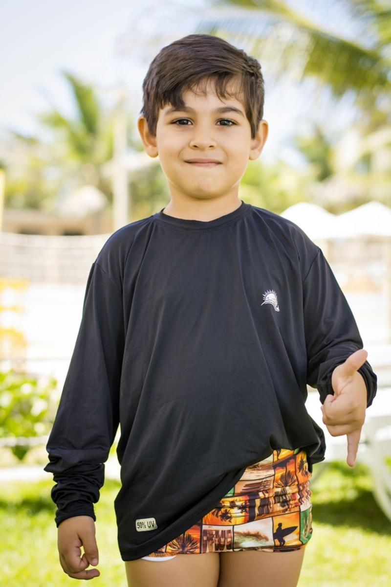 Camisa Manga Longa Infantil - Proteção Solar Certificada no Elo7 ... b31148bca3274