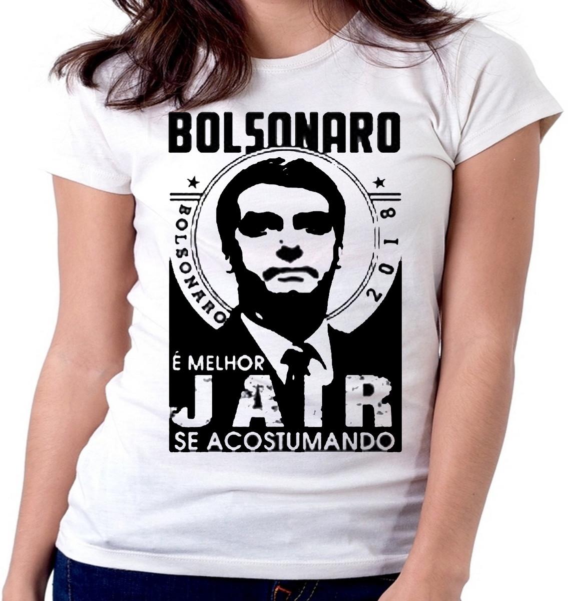 3bf87d5610 Blusa feminina baby look camiseta Bolsonaro melhor Jair se a no Elo7 ...