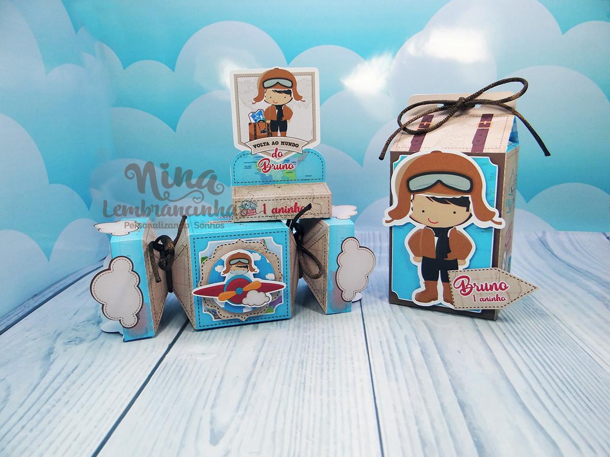 6d84922fbef95 Kit festa Aviador - 90 itens no Elo7   Nina Lembrancinhas (D3D9A1)