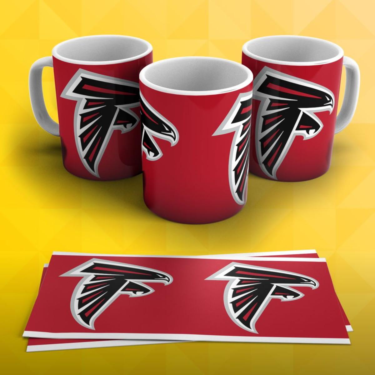 70ce9372c0 Caneca Futebol Americano NFL Atlanta Falcons no Elo7
