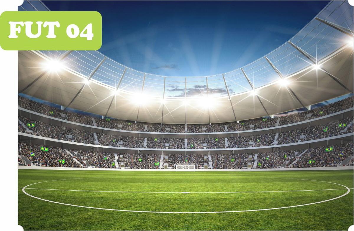 Esporte Tileable Papel De Parede Colorido: Adesivo Auto Colante De Parede Estádio Futebol 1,60A X 2