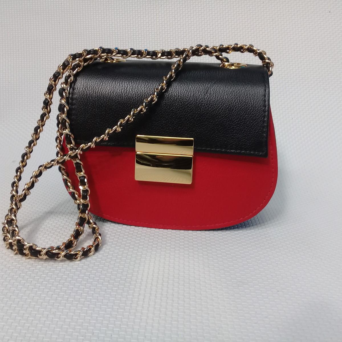 3546e3ffb Bolsa em couro preta/vermelha Juliet no Elo7 | BOLSAS VIVIAN LAGO ...