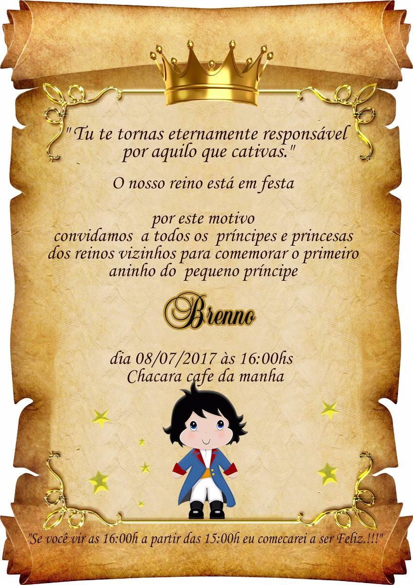 Convite Pergaminho Pequeno Principe no Elo7 | Mimos do Leeh (D409B4)