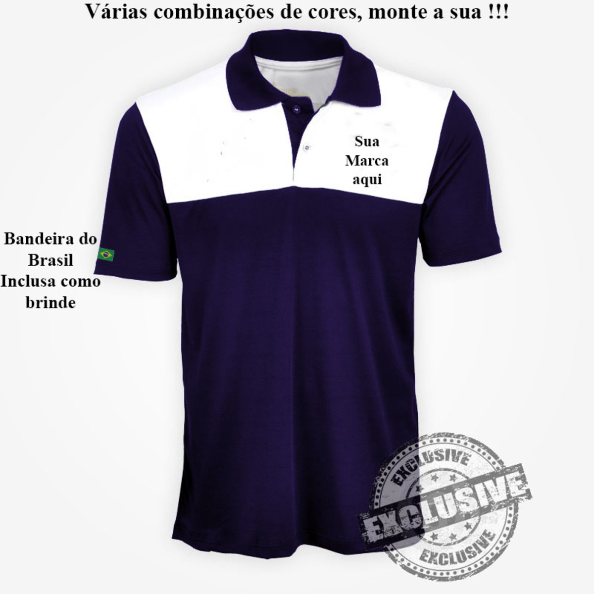 b732384666 Camisa Camiseta pólo uniformes profissionais kit c  4 pçs no Elo7 ...