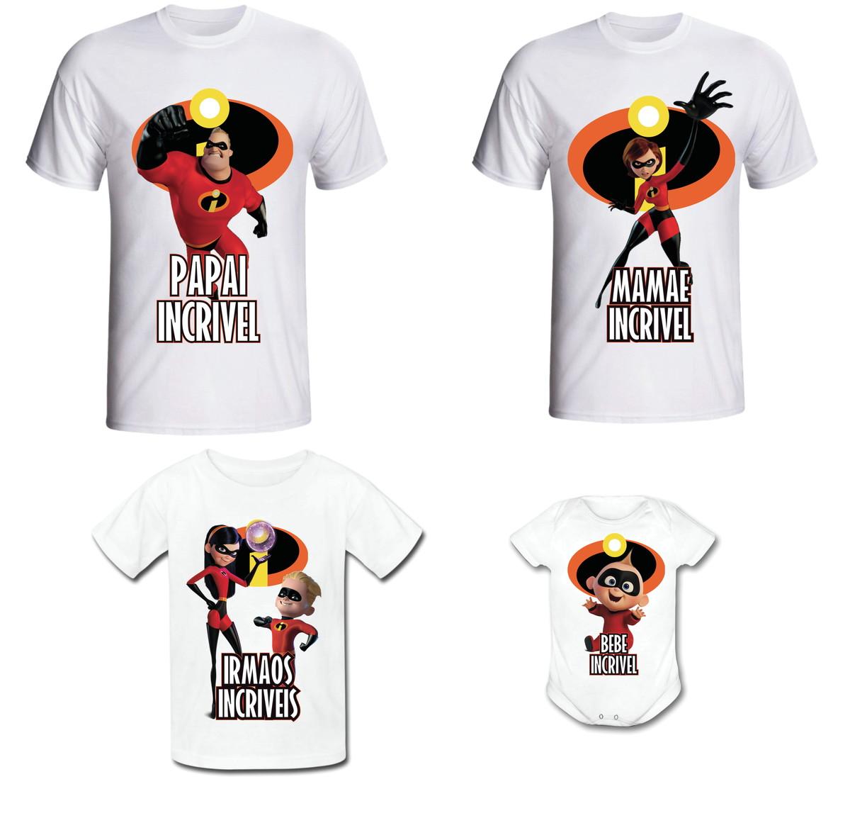 Camiseta Os INCRÍVEIS Kit  03 camisetas + body bebê no Elo7  6c9d9b39869b4
