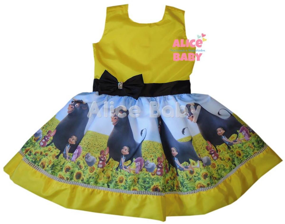 d8c77b044 Vestido Temático Infantil Touro Ferdinando Mod.1 no Elo7   Alice ...